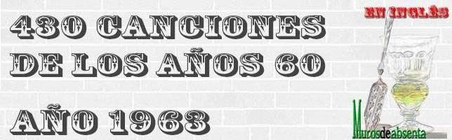 Canciones de los años 60. Año 1963 (en inglés)