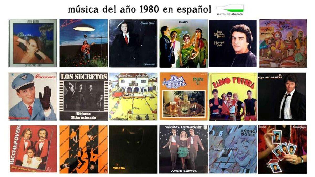 Música De Los 80 En Español 250 Canciones Muros De Absenta