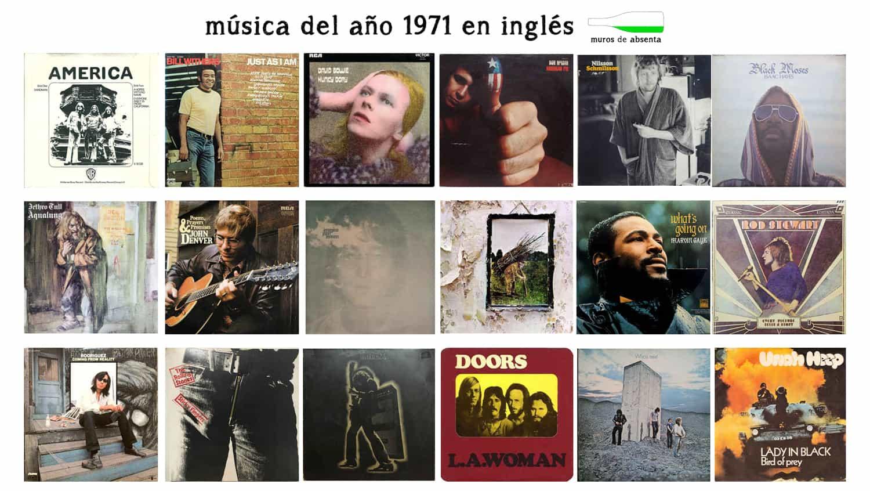 Música del año 1971 en inglés